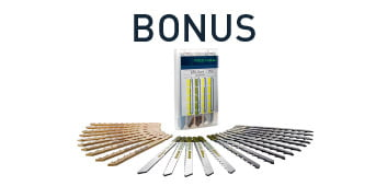 JIGSAWS with BONUS pack of 25 jigsaw blades 499501 (with tool) $140 value