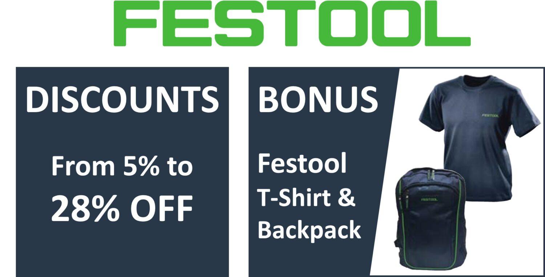 FESTOOL DEALS (Bonuses and Specials)