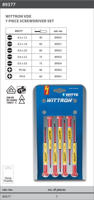 Witte wittron-tournevis Flat for Precision Work Wittron